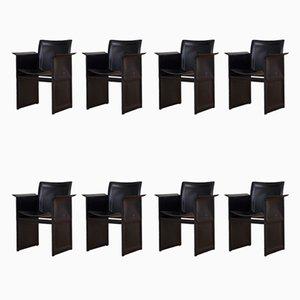 Italian Korium Dining Chairs by Tito Agnoli for Matteo Grassi, 1970s, Set of 8