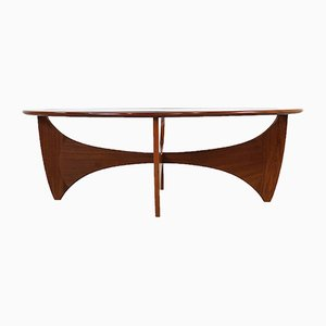 Oval Teak Astro Coffee Table by V. Wilkins for G-Plan, 1970s