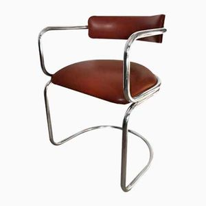 Vintage Swiss Tubular Chrome Chair from Zougoise Victoria, 1970s