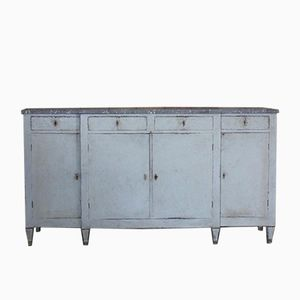 Antique French Painted Breakfront Enfilade, 1900s