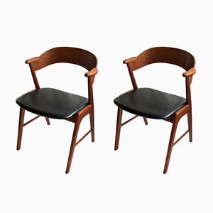 Model 32 Chairs by Kai Kristiansen for Schou Andersen, 1960s, Set of 2