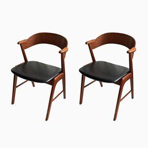 Modell 32 Stühle von Kai Kristiansen für Schou Andersen, 1960er, 2er Set