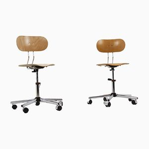 Vintage Industrial Chrome Office Chairs, 1970s, Set of 2
