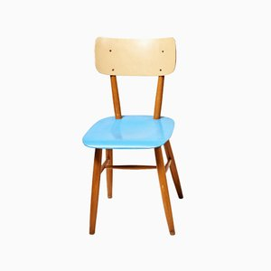 Blue Dining Chair from TON, 1960s