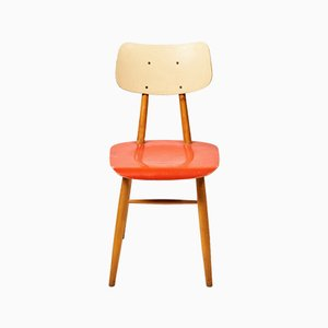 Red Dining Chair from TON, 1960s