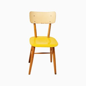 Yellow Dining Chair from TON, 1960s