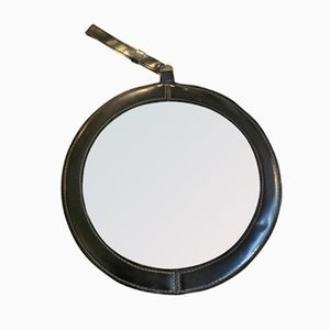 Leather Mirror, 1950s