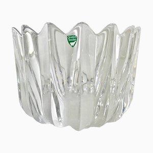 Vintage Kristallglas Schale von Sven Palmqvist für Orrefürs