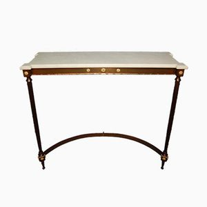Vintage French Bronze Wall Mounted Console Table, 1960s