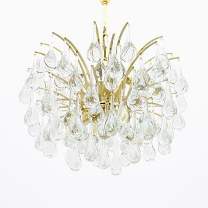 Glass Drop Chandelier by Ernst Palme for Palwa, 1970s