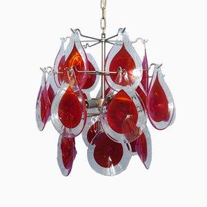 Italienische Vintage Murano Glas Deckenlampe von Gino Vistosi, 1960er