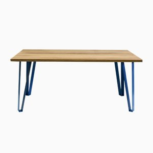Victoria's Table with Blue Legs by Studio Deusdara