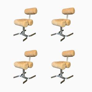 Vintage Vertebra Collection Chairs by Pierre Vandel, Set of 4