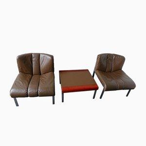 Schweizer Vintage Stühle und Couchtisch Set von Girsberger, 1974
