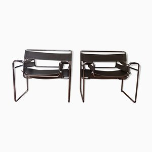 Wassily Armchairs by Marcel Breuer, 1980s, Set of 2