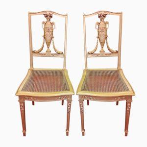 Louis XVI Stil Stühle, 1920er, 2er Set