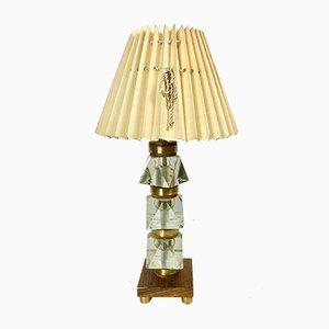 Schwedische Glas Lampe, 1950er