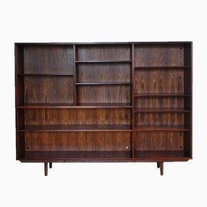 Mid-Century Danish Rosewood Veneer Bookcase by Omann Jun, 1960s