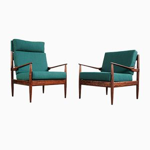 Walnut Easy Chairs from Beka, 1960s, Set of 2