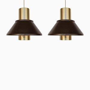 Model Life Pendant Lamps by Jo Hammerborg for Fog & Mørup, 1960s, Set of 2