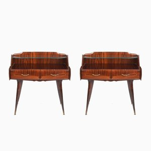 Italian Bedside Tables, 1940s, Set of 2