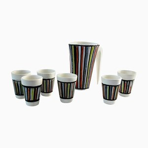 Set de Six Tasses et Pichet par Roger Capron, 1960s