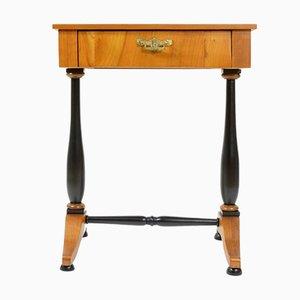 Tavolo da cucito antico in legno di ciliegio