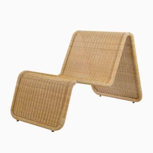Rattan Lounge Chair by Tito Agnoli for Pierantonio Bonacina, 1970s