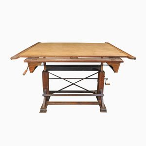 French Adjustable Architect's Drafting Desk, 1920s