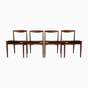 Vintage Teak Vamo PV Dining Chairs by Arne Vodder for Vamo Sonderborg, Set of 4