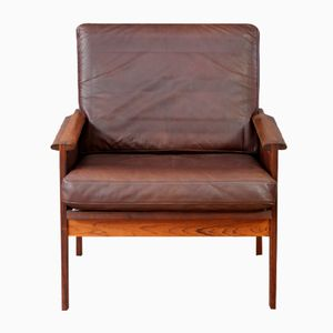 Rosewood Capella Armchair by Illum Wikkelso, 1960s