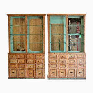Antique Spanish Display Cabinets, Set of 2