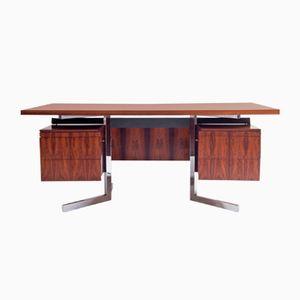 Vintage Palisander & Chrom Schreibtisch