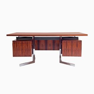Vintage Rosewood & Chrome Desk