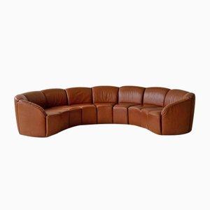 Canapé Incurvé Vintage en Cuir par Walter Knoll, 1960s