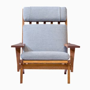 GE 375 Oak Lounge Chair by Hans J. Wegner for Getama, 1960s