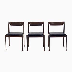 Palisander & Skai Esszimmerstühle, 1960er, 3er Set