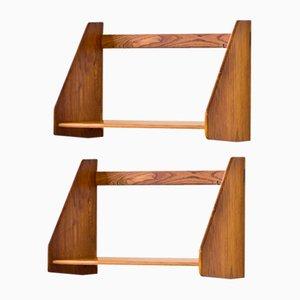 Oak Wall Shelves by Hans J. Wegner for Ry Møbler, 1950s, Set of 2