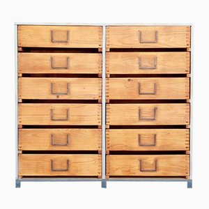 Oak Storage Unit, 1950s