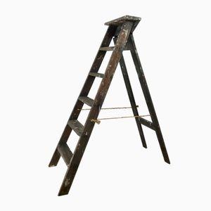 Klappbare Vintage Leiter aus Holz
