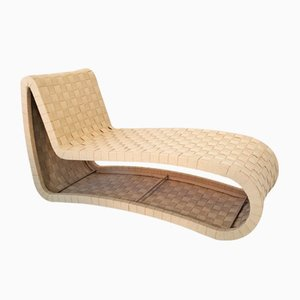 Scandinavian Plywood & Webbing Chaise Lounge, 1970s