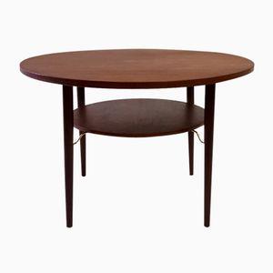 Vintage Danish Teak Round Coffee Table, 1960s