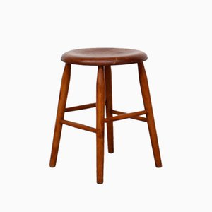 Vintage Dutch Teak Stool from Pastoe, 1960s