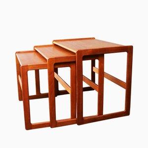 Mid-Century Danish Nesting Tables by Arne Hovmand-Olsen for Mogens Kold, 1960s, Set of 3