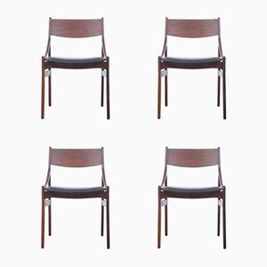 Vintage Danish Peter Dining Chairs by Vestervig Eriksen, 1960s, Set of 4