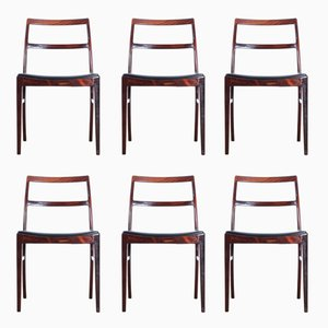 Vintage Model 430 Rio Rosewood Chairs by Arne Vodder for Sibast, 1960s, Set of 6
