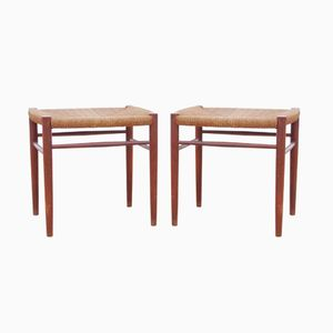 Model 316 Stools by Hvidt & Mølgaard-Nielsen for Søborg, 1960s, Set of 2