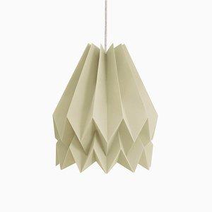 Origami Lampe in hellem Graubraun von Orikomi