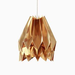 Lampe Origami Couleur Or Chaud par Orikomi