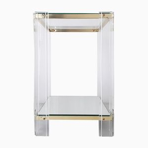 Vintage Lucite Side Table, 1970s